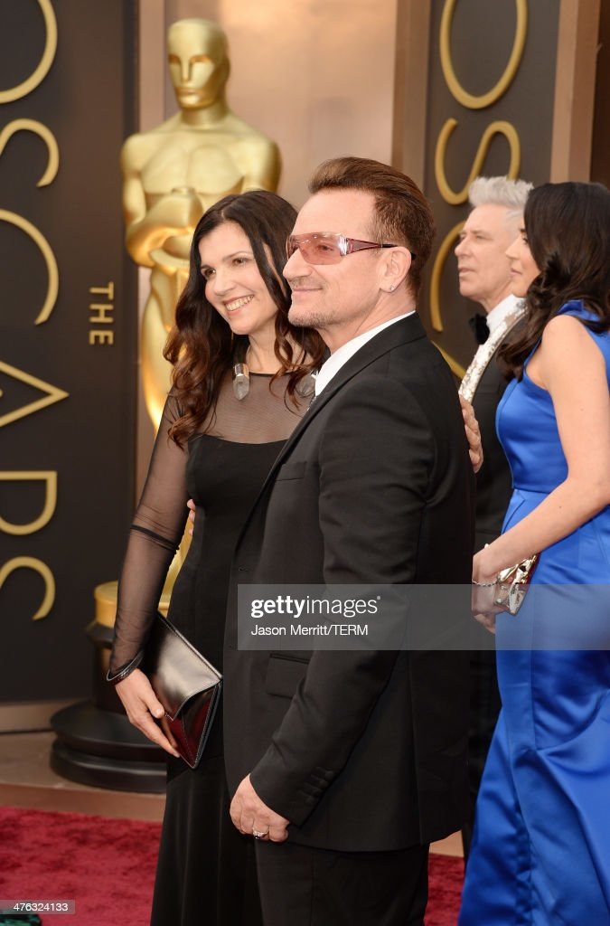 <a gi-track='captionPersonalityLinkClicked' href=/galleries/search?phrase=Ali+Hewson&family=editorial&specificpeople=210576 ng-click='$event.stopPropagation()'>Ali Hewson</a> and <a gi-track='captionPersonalityLinkClicked' href=/galleries/search?phrase=Bono+-+Singer&family=editorial&specificpeople=167279 ng-click='$event.stopPropagation()'>Bono</a> attend the Oscars held at Hollywood & Highland Center on March 2, 2014 in Hollywood, California.