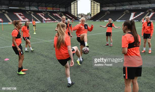 Ali Johnson of Liverpool Ladies during a Photocall at Select Security Stadium on June 2 2017 in Widnes England