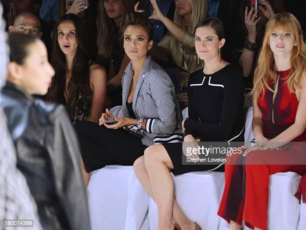 Ali Kay Jessica Alba Allison Williams and Bella Thorne attend the Diane Von Furstenberg fashion show during MercedesBenz Fashion Week Spring 2014 at...
