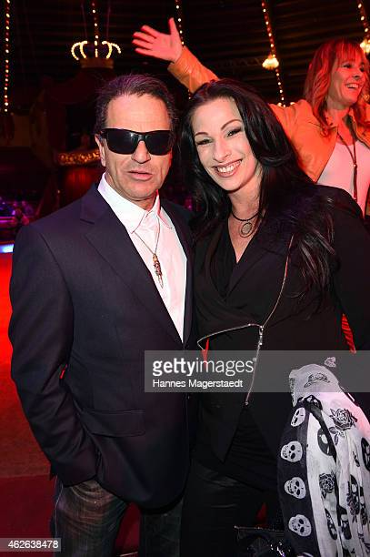 Ali Khan and his girlfriend Ramona Enderle attend the 'Wunderwelt der Manege' Circus Krone Premiere on February 1 2015 in Munich Germany