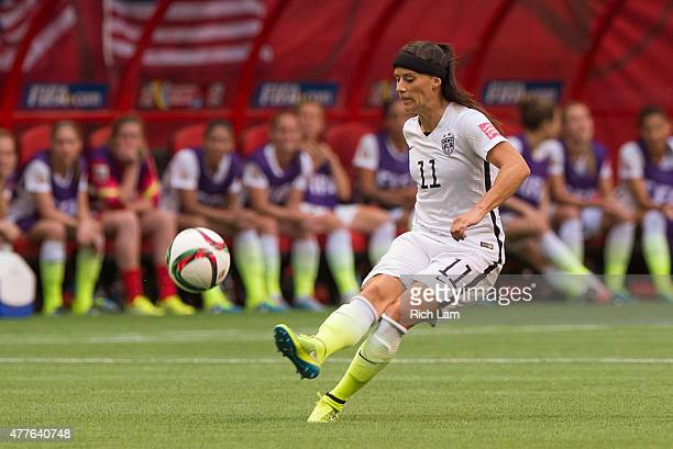Ali Krieger of the United States kicks the ball during the FIFA Women's World Cup Canada 2015 Group D match between Nigeria and The United States...