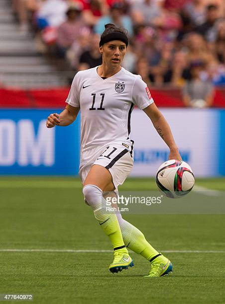 Ali Krieger of the United States passes the ball during the FIFA Women's World Cup Canada 2015 Group D match between Nigeria and The United States...