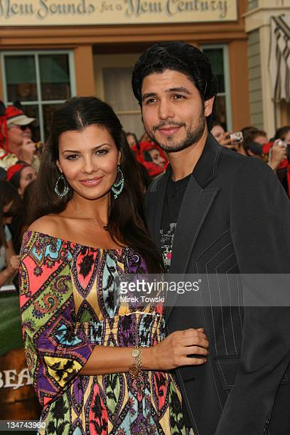 Ali Landry and Alejandro Monteverde during 'Pirates of the Caribbean Dead Man's Chest' Los Angeles Premiere Arrivals at Main Street USA Disneyland in...