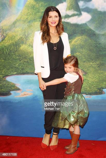 Ali Landry and her daughter arrive at the Los Angeles Premiere of Disney's 'The Pirate Fairy' held at Walt Disney Studio Lot on March 22 2014 in...