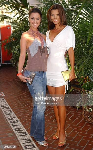 Ali Landry and her sister during UPN All Star Summer Party at Shutters in Santa Monica California United States