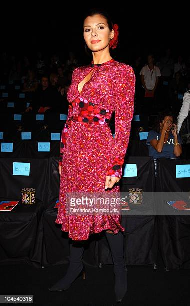 Ali Landry during MercedesBenz Fashion Week Spring Collections 2003 Anna Sui Front Row at Bryant Park in New York City New York United States