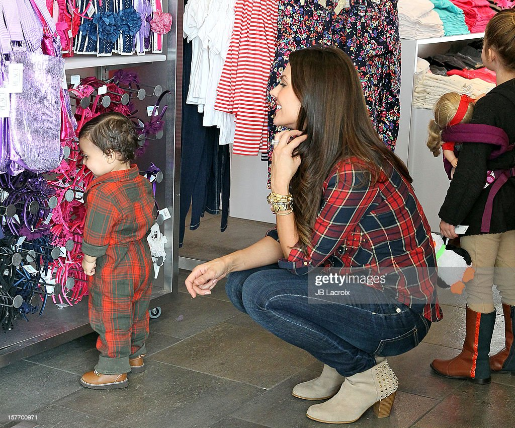 <a gi-track='captionPersonalityLinkClicked' href=/galleries/search?phrase=Ali+Landry&family=editorial&specificpeople=543155 ng-click='$event.stopPropagation()'>Ali Landry</a>, Estela Ines Monteverde and Marcelo Alejandro are seen shopping at The Children's Place on December 5, 2012 in Los Angeles, California.