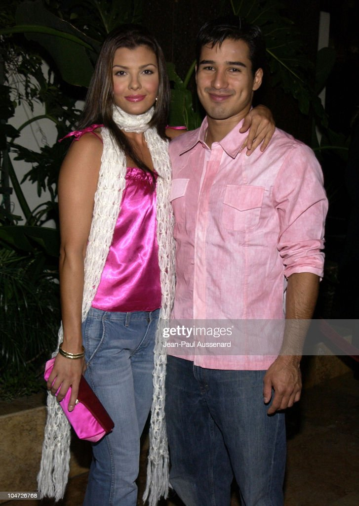 Ali Landry & Mario Lopez during Exclusive Artists Management Launch Party at The Sunset Room in Hollywood, California, United States.