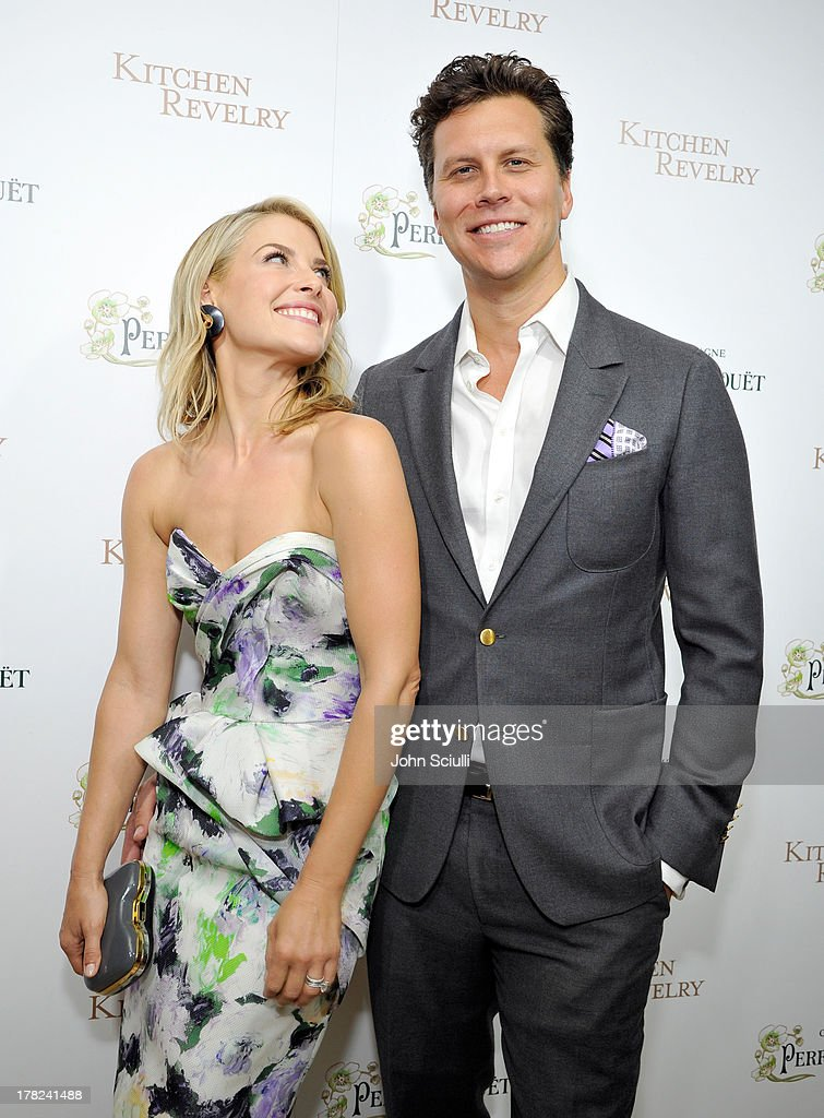 <a gi-track='captionPersonalityLinkClicked' href=/galleries/search?phrase=Ali+Larter&family=editorial&specificpeople=208082 ng-click='$event.stopPropagation()'>Ali Larter</a> (L) and comedian <a gi-track='captionPersonalityLinkClicked' href=/galleries/search?phrase=Hayes+MacArthur&family=editorial&specificpeople=2465134 ng-click='$event.stopPropagation()'>Hayes MacArthur</a> celebrate the release of <a gi-track='captionPersonalityLinkClicked' href=/galleries/search?phrase=Ali+Larter&family=editorial&specificpeople=208082 ng-click='$event.stopPropagation()'>Ali Larter</a>'s new cookbook 'Kitchen Revelry' with Perrier-Jouet at Sunset Tower on August 27, 2013 in West Hollywood, California.