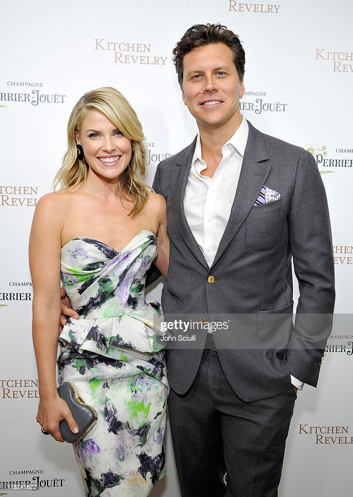 Ali Larter (L) and comedian Hayes MacArthur celebrate the release of Ali Larter's new cookbook 'Kitchen Revelry' with Perrier-Jouet at Sunset Tower on August 27, 2013 in West Hollywood, California.