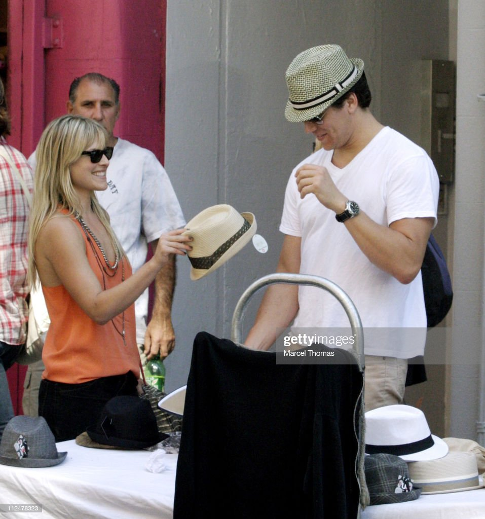 Ali Larter and fiancee Hayes MacArthur are seen on the streets of Manhattan on April 25 2009 in New York City