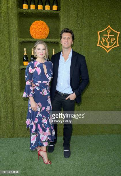 Ali Larter and Hayes MacArthur at the Eighth Annual Veuve Clicquot Polo Classic on October 14 2017 in Los Angeles California