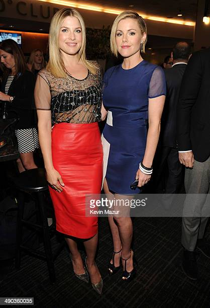 Ali Larter and Kathleen Robertson attend the TBS / TNT Upfront 2014 at The Theater at Madison Square Garden on May 14 2014 in New York City...