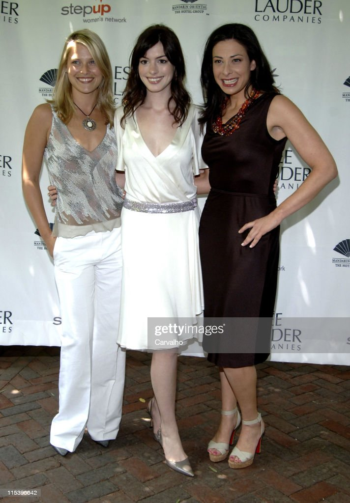 Ali Larter Anne Hathaway and Stacy London during Step Up Women's Network Hosts 'Inspiration Awards' at Central Park Boathouse in New York City New...