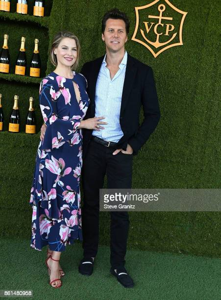 Ali Larter Hayes MacArthur arrives at the 8th Annual Veuve Clicquot Polo Classic at Will Rogers State Historic Park on October 14 2017 in Pacific...