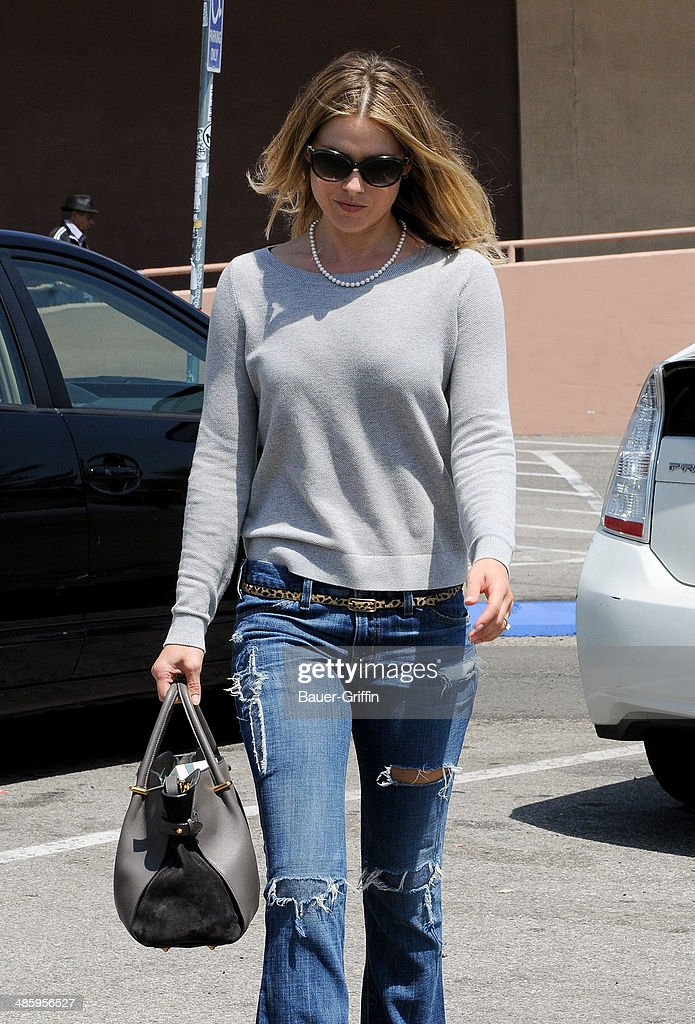 Ali Larter is seen on April 21, 2014 in Los Angeles, California.
