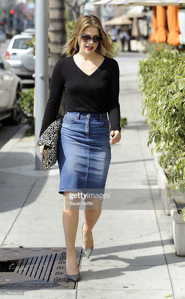 Ali Larter is seen on March 03, 2014 in Los Angeles, California.
