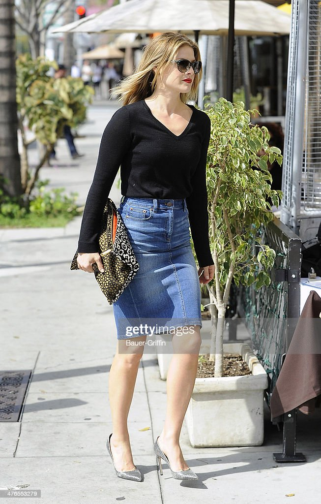 Ali Larter is seen on March 03, 2014 in Los Angeles, California.