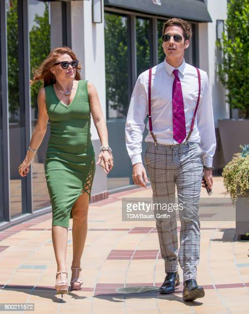 Ali Levine and Anthony Pazos are seen on June 23 2017 in Los Angeles California