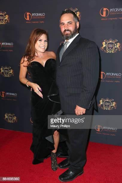 Ali Levine and Justin Jacaruso attend Affluent Attache red carpet launch benefiting Los Angeles Children's Hospital at OUE Skyspace LA on December 2...