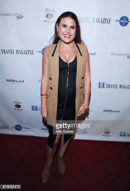 Ali Levine attends the Los Angeles Travel Magazine Unveils Their 'FallHoliday Issue' event at The Avalon Hotel on November 3 2017 in Los Angeles...