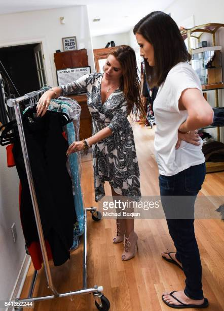 Ali Levine styles Julie Lake at TAP The Artists Project Style House on August 31 2017 in Los Angeles California