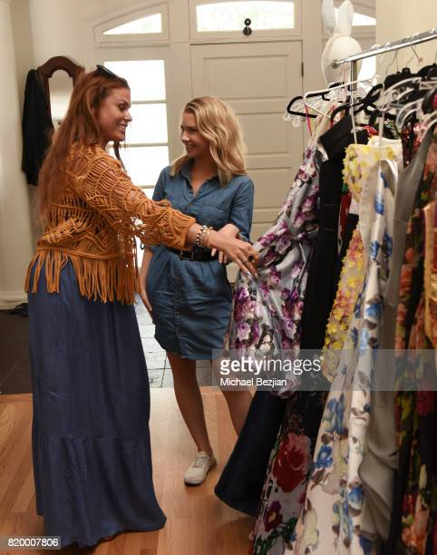 Ali Levine styling Elise Luthman's at Ali Levine styles at The Artists Project TAP Style House on July 20 2017 in Los Angeles California