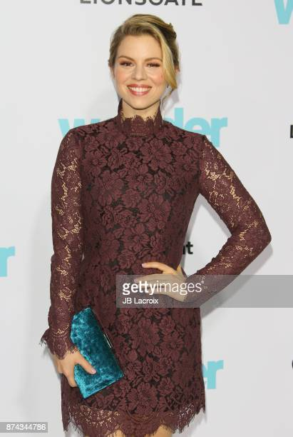 Ali Liebert attends the premiere of Lionsgate's 'Wonder' on November 14 2017 in Los Angeles California
