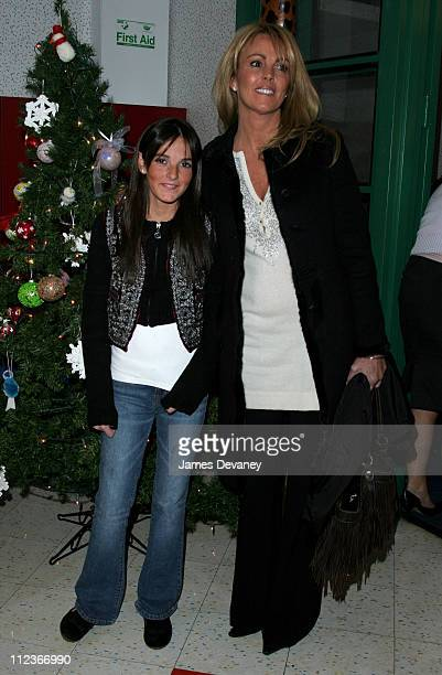 Ali Lohan and Dina Lohan during Ali Lohan Brings Christmas Cheer to Kids with Cancer at the Ronald McDonald House December 7 2005 at Ronald McDonald...