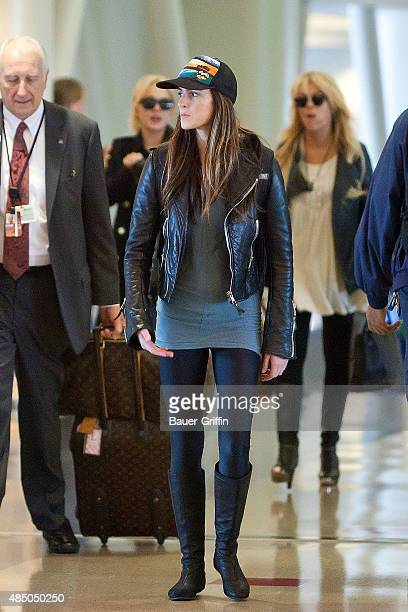 Ali Lohan is seen at Los Angeles International Airport on March 13 2011 in Los Angeles California