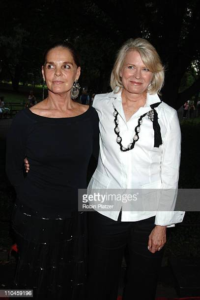 Ali MacGraw and Candice Bergen during The Public Theatres Summer Gala Honoring Meryl Streep and Kevin Kline and Opening Night of MacBeth at Central...