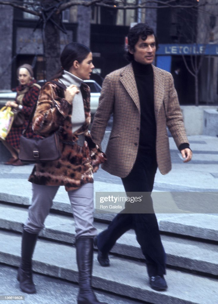 Ali MacGraw and Robert Evans sighted on April 1 1971 on Fifth Avenue in New York City
