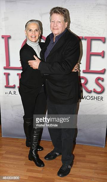 Ali MacGraw and Ryan O'Neal attend a photo call for their upcoming touring production of 'Love Letters' at The Shelter Studios Penthouse on February...
