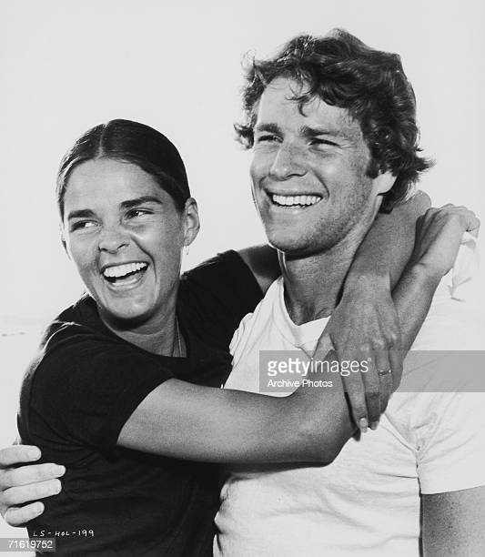 Ali MacGraw and Ryan O'Neal stars of the film 'Love Story' directed by Arthur Hiller 1970