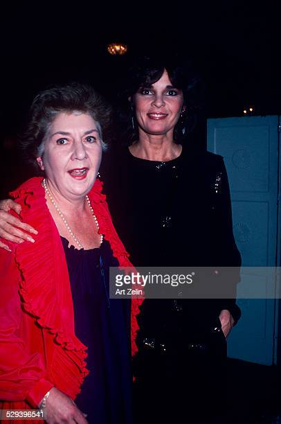Ali MacGraw with Maureen Stapleton at a formal event circa 1970 New York