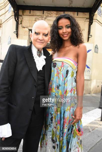 Ali Mahdavi and Flora Coquerel leave the Jean Paul Gaultier Haute Couture Fall/Winter 20172018 show as part of Haute Couture Paris Fashion Week on...