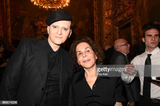 Ali Mahdavi and his mother attend the Best of Paris Vol4 at Opera Comique Acacias on October 10 2017 in Paris France
