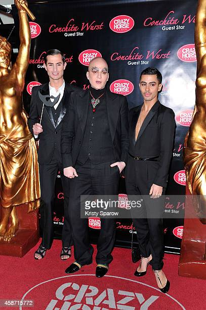Ali Mahdavi attends the Conchita Wurst Crazy Horse Show Premiere at Le Crazy Horse on November 9 2014 in Paris France