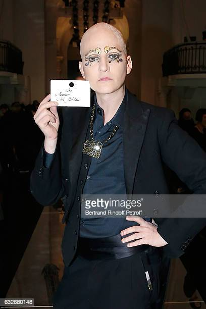 Ali Mahdavi attends the Jean Paul Gaultier Haute Couture Spring Summer 2017 show as part of Paris Fashion Week on January 25 2017 in Paris France