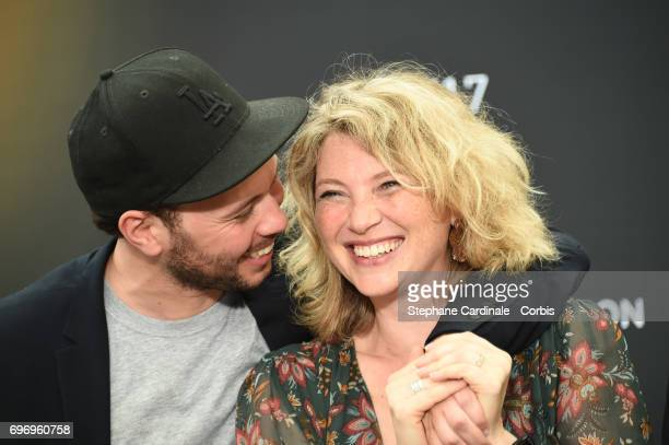 Ali Marhyar and Cecile Bois from 'Candice Renoir' TV Show pose for a Photocall during the 57th Monte Carlo TV Festival Day Two on June 17 2017 in...