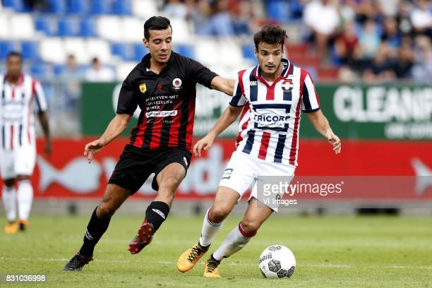 Ali Messaoud of Excelsior Pedro Chirivella of Willem II during the Dutch Eredivisie match between Willem II Tilburg and sbv Excelsior at Koning...