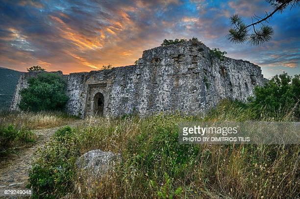 Ali pasha's castle at sunrise Parga