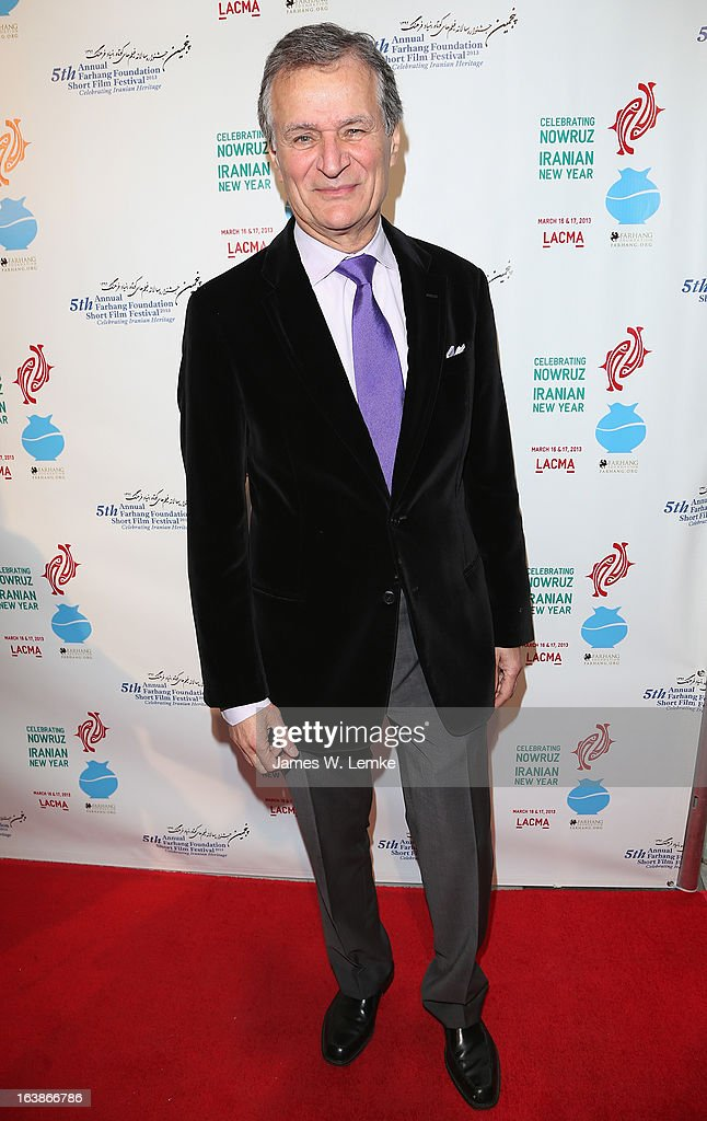 Ali Razi attends the 2013 Farhang Foundation Short Film Festival held at the Bing Theatre at LACMA on March 16, 2013 in Los Angeles, California.