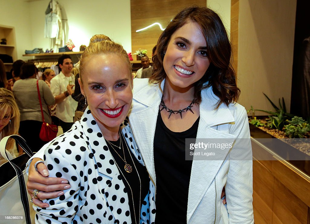 Ali Smith (L) and Actress Nikki Reed attend the 7 For All Mankind x Nikki Reed Jewelry Collection Launch on May 7, 2013 in Troy, Michigan.