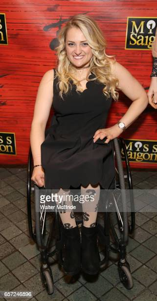 Ali Stroker attends The Opening Night of the New Broadway Production of 'Miss Saigon' at the Broadway Theatre on March 23 2017 in New York City