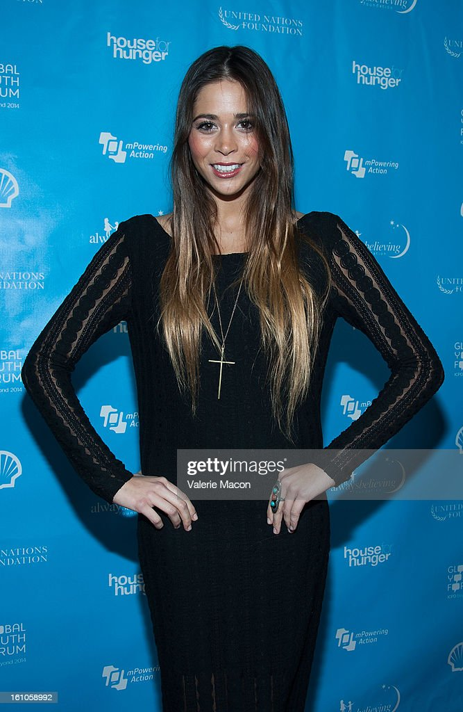 Ali Tamposi arrives at the mPowering ActionPre-GRAMMY Launch Event at The Conga Room at L.A. Live on February 8, 2013 in Los Angeles, California.