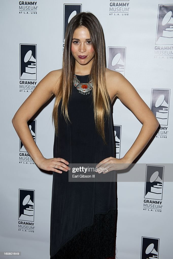 Ali Tamposi attends 'Happy On The Groun: 8 Days At Grammy Camp' at The GRAMMY Museum on February 5, 2013 in Los Angeles, California.