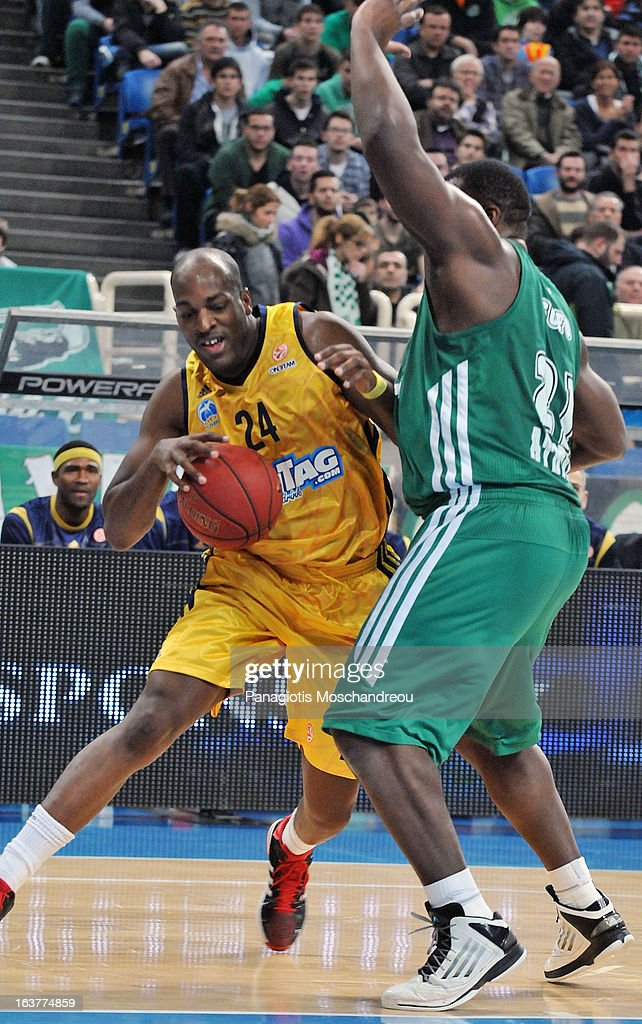 <a gi-track='captionPersonalityLinkClicked' href=/galleries/search?phrase=Ali+Traore&family=editorial&specificpeople=812387 ng-click='$event.stopPropagation()'>Ali Traore</a>, #24 of Alba Berlin in action during the 2012-2013 Turkish Airlines Euroleague Top 16 Date 11 between Panathinaikos Athens v Alba Berlin at OAKA on March 15, 2013 in Athens, Greece.