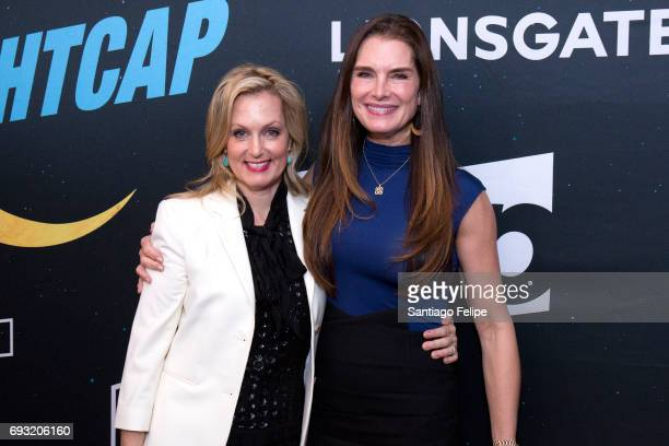 Ali Wentworth and Brooke Shields attend 'Nightcap' Season 2 New York Premiere Party at Crosby Street Hotel on June 6 2017 in New York City
