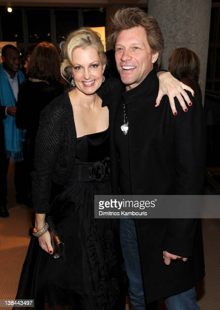 Ali Wentworth and Jon Bon Jovi attend the book launch party for Ali Wentworth's new book 'Ali In Wonderland' at Sotheby's on February 6 2012 in New...